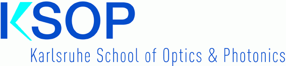 Logo of the Karlsruhe School of Optics and Photonics.