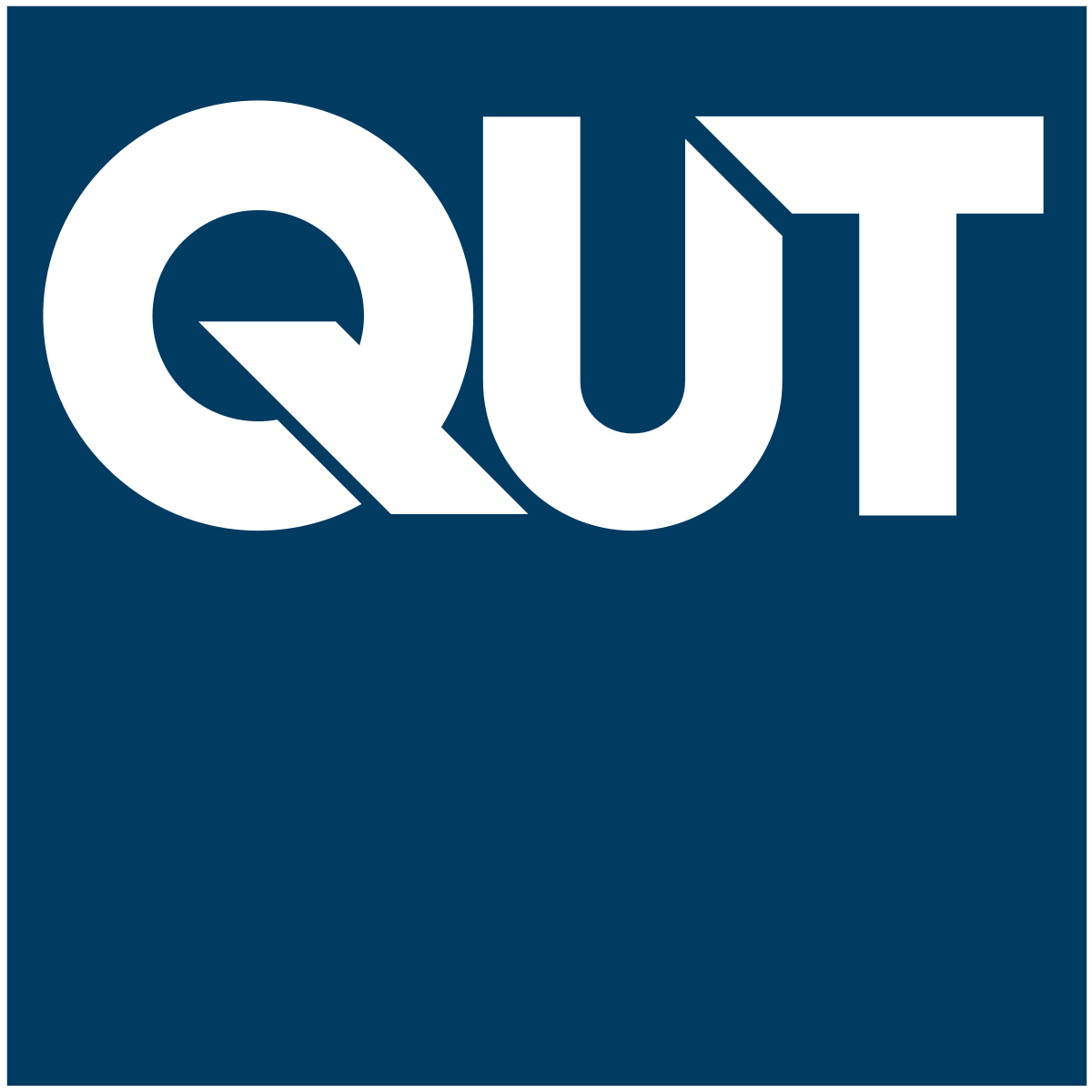 Logo of the Queensland University of Technology (QUT).